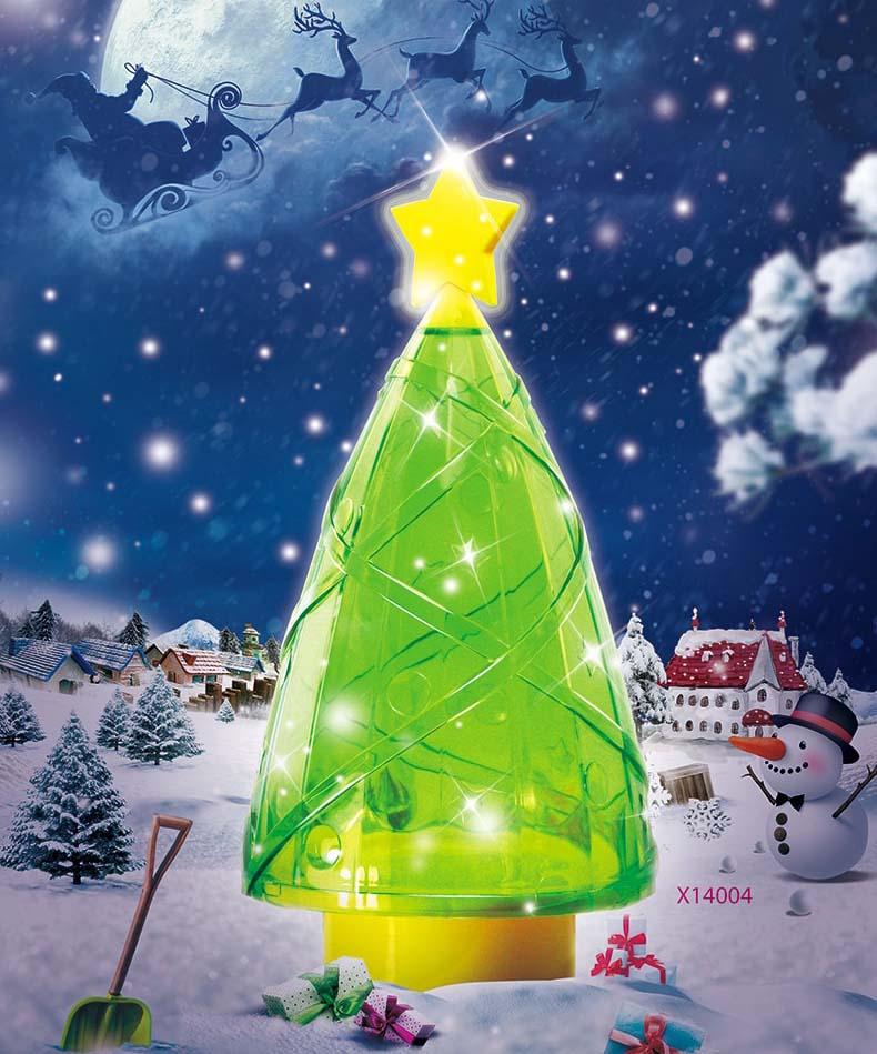 Christmas tree shaped plastic candy gift box
